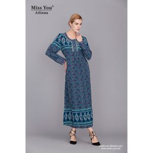 Miss You Ailinna 360525 Women Muslim Blue Dress Wholesale pictures & photos