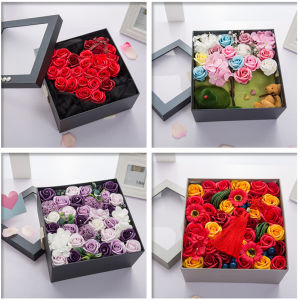 Hot Sale Packing Custom Logo Printing Corrugated Paper Flower Delivery Box Fancy Box pictures & photos
