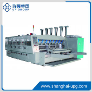 Qyk-1200 (2500*1200) Automatic Lead Edge Feeder Flexo Printing Slotting Die-Cutting and Stacking Machine pictures & photos