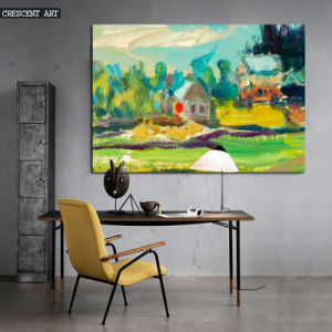 Watercolor Countryside Abstract Canvas Print