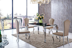 Modern Glass Stainless Steel Dining Room Furniture (SJ808) pictures & photos