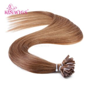 K. S Wigs 6A Indian Remy Virigin Human Hair U-Tip Hair Extensions