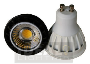LED GU10 7W COB Spotlight White Finish, Dimmable