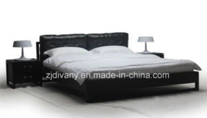 Modern Bedroom Furniture Wood Leather Bed (A-B36) pictures & photos