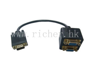 2x 15 Pin VGA Male to Female Video Adapter Converter PC Monitor Display Molded