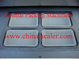 Automatic Vertical Type Tray Sealing Machine pictures & photos
