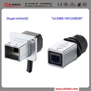 Outdoor RJ45 Poe Connector/Outdoor RJ45 Male Female Connector/RJ45 Metal Shield Connector pictures & photos