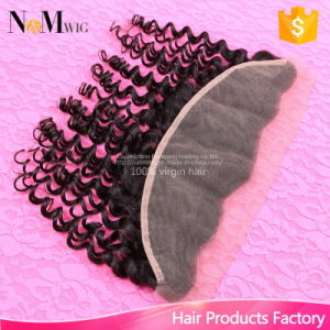 Brazilian Deep Wave Curly Human Hair Accessories Raw Unprocessed 13X4 Lace Frontal Hair Top Closure pictures & photos