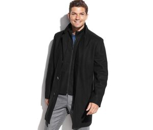 Wholesale OEM Men′s Single Breasted Wool Overcoat pictures & photos