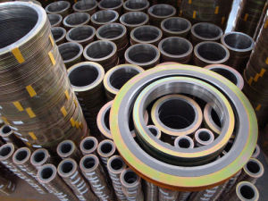 Spiral Wound Gaskets with Yellow Painted Outer Ring pictures & photos