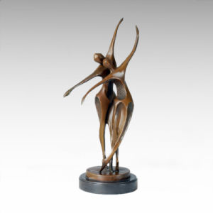 Abstract Statue Modern Dance Bronze Sculpture, Milo Tple-060
