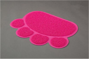 Rectangle Pet Accessory Paw Prints Cat Litter Trapper Mat