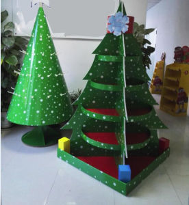 Christmas Tree Display Stand.Customized 5 Tirer Pop Cardboard Christmas Tree Display Stand