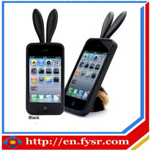 Rabbit Ears Silicone Phone Cover (FY-2016-1)