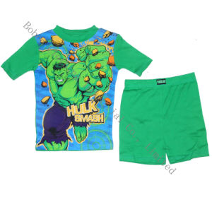 Boy′s Short Top with Pant Fashion Pajamas