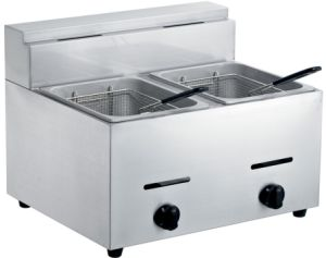 Gas Deep Fryer (2-Tank, 2-Basket) pictures & photos