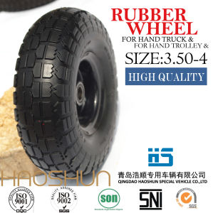 Hand Truck Tyre Trolley Tyre Pneumatic Barrow Rubber Wheel Tire 3.50-8 pictures & photos
