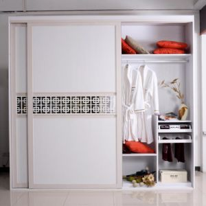 Customised Modern Push and Pull Style Melamine Wardrobe Furniture