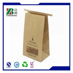 Plain Brown Retail Kraft Paper Bag with Tin Tie for Coffee Cookies pictures & photos