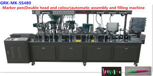 Stationery Machinery--Marker Pen with Double Head and Double Colour Automatic Assembly and Filling Machine pictures & photos