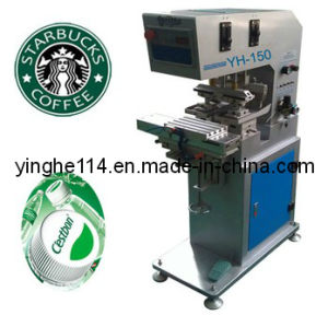 Two Color Sealed Cup Pad Printer with Conveyor pictures & photos
