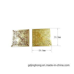 Nickel Free Zinc Alloy Logo Printing Metal Label pictures & photos