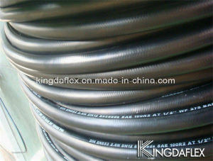 SAE100r1at Flexible Smooth Cover Steel Wire Reinforced Industrial Hydraulic Rubber Oil Hose pictures & photos