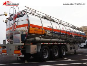3axles Stainless Steel Tanker Semi Trailer for Sale pictures & photos