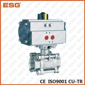 3-PC Ball Valve with Mounting Pad with Actuator pictures & photos
