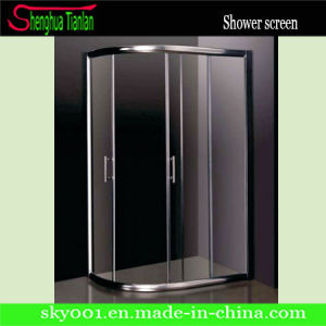 Tempered Glass Stainless Steel Frame Sliding Shower Door (TL-402) pictures & photos