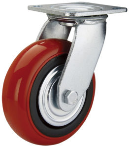 Heavy Duty 200mm Swivel PU Caster (HE-A-200-RBR)