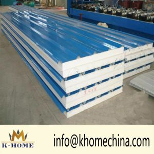 Construction Material Insulated EPS Polyester Foaming Sandwich Panel pictures & photos