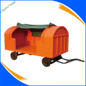 Airport Covered Baggage Cart for Gse Equipment with Canopy pictures & photos