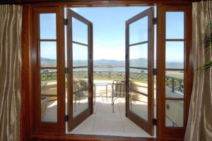 New Design Beautiful Wood Glass Balcony Door, French Door pictures & photos