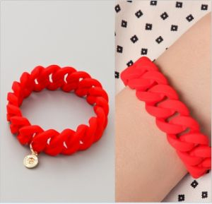 Custom Fashionable Elastic Silicon Rubber Wrist Band