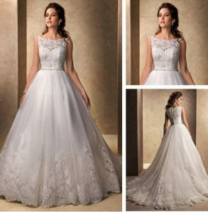 A-Line Bridal Gowns Lace Tulle Wedding Dresses N201517 pictures & photos