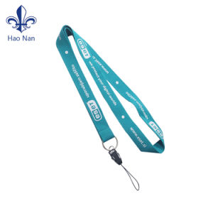 Customized Woven Jacquard Lanyard with Metal Hook pictures & photos