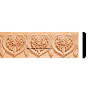 China Wood Carved Heart Shape Insert Moulding PT2101 - China