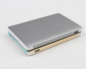 Ultra Thin Metal Credit Card Power Bank 2500mAh pictures & photos
