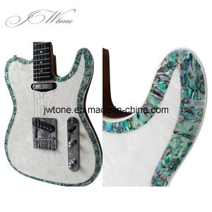 Real Abalone Top Inlay Tele Electric Guitar