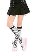Piano Key Knee-High Socks