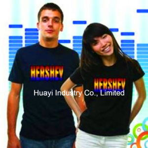 Sound Activated Electro-Luminescence T Shirts
