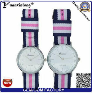 Yxl-547 OEM Logo Nylon Watch Many Color Band Man Wrist Watches Luxury Quartz Couple Watch pictures & photos