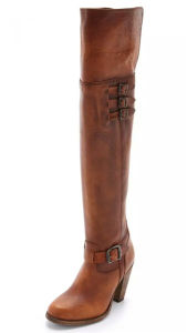 Mulheres Buckle Thigh High Lady Boots (WG12)