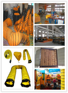 PVC Flexible Duct with Black Sleeve and Buckle pictures & photos