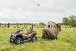Universal ATV/UTV/Quad/ Buggy/Small Tractor/Side X Side/UTV Tow-Behind Bale Trailer/Hay Roll Trailer Ce, Max Load 500kgs pictures & photos