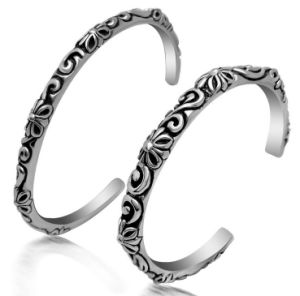 Couple Cuff Bracelets Titanium Steel Fashion Jewelry Cross Pattern