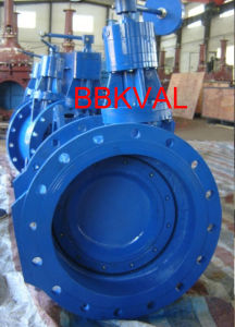 Butterfly Check Vlave, Double Flange, with Counterweight and Hydraulic Damper pictures & photos