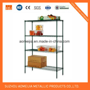 Metal Wire Mesh Tiers Display Rack for Home