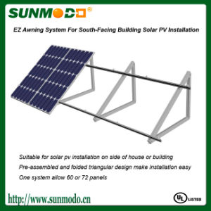 Awning System for South Facing Building Solar PV Installation